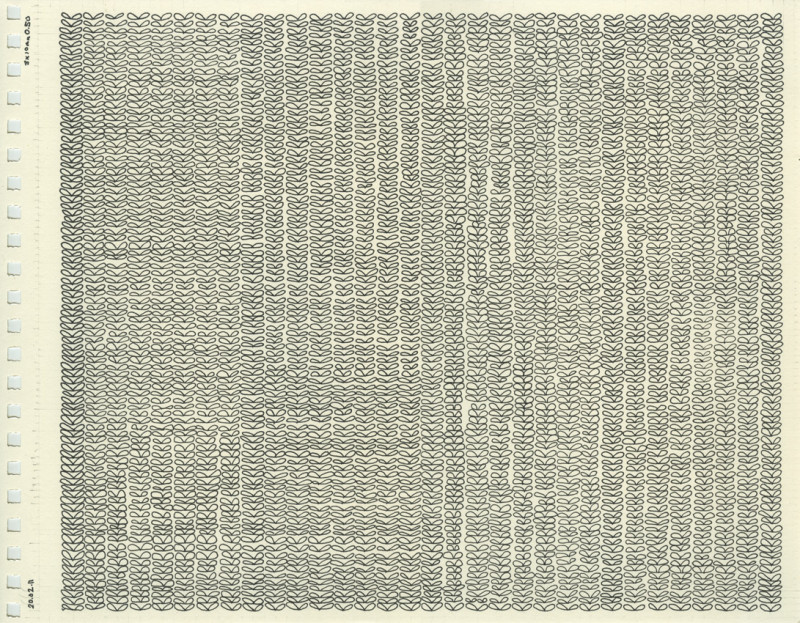 Untitled (Knit Stitches Drawing), 2011