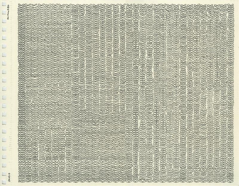 Untitled (Knit Stitches Drawing), 2011