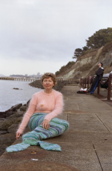 Jean, San Francisco, 2001 Anna Maltz mermaid knitted suits