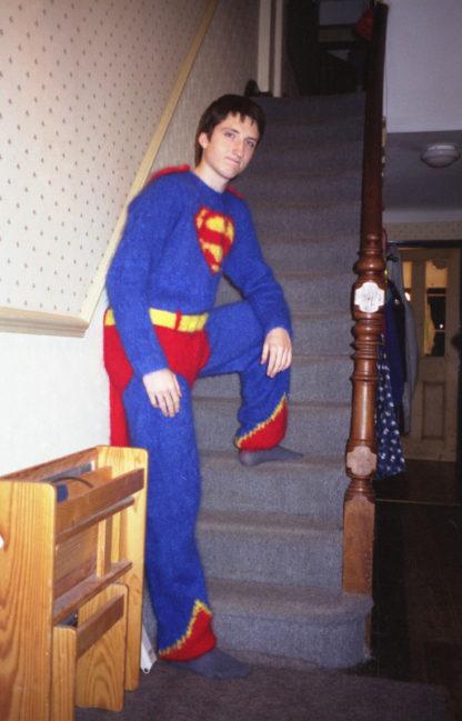 Ben London knitted superman suit Anna Maltz