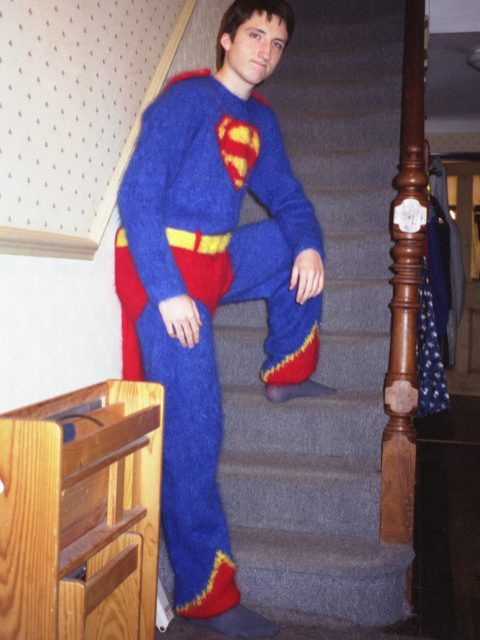 Ben London knitted superman suit Anna Maltz