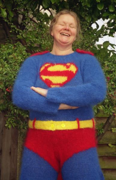 Pien London knitted superman suit Anna Maltz